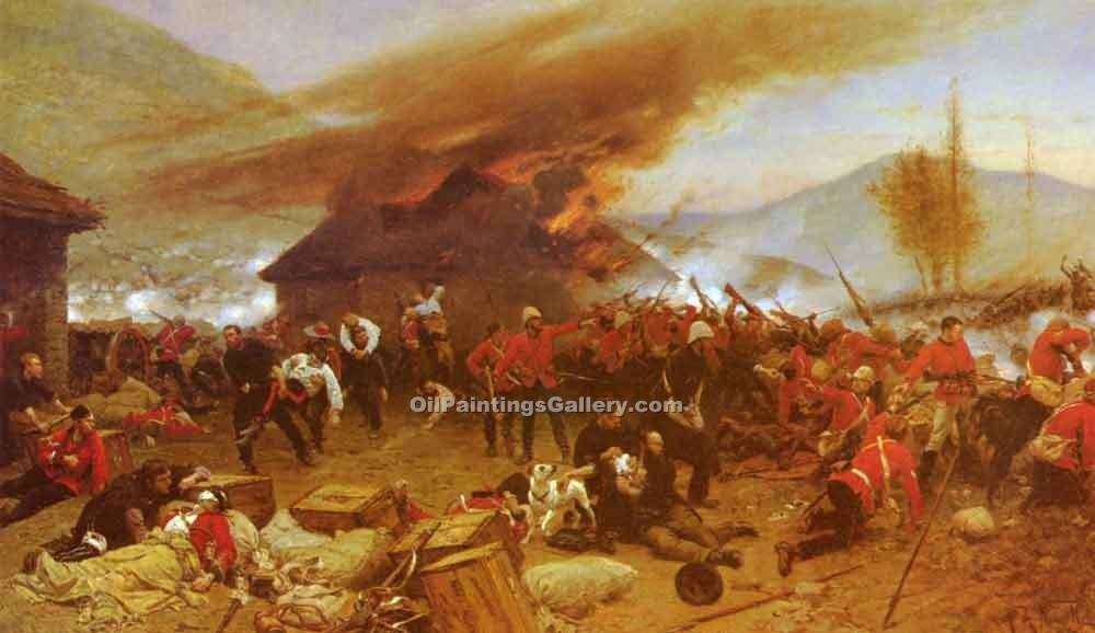 """The Defence of Rorkes Drift"" by  Alphonse de Neuville"