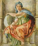The Delphic Sibyl (detail) by  Buonarroti Michelangelo (Painting ID: DA-2107-A)