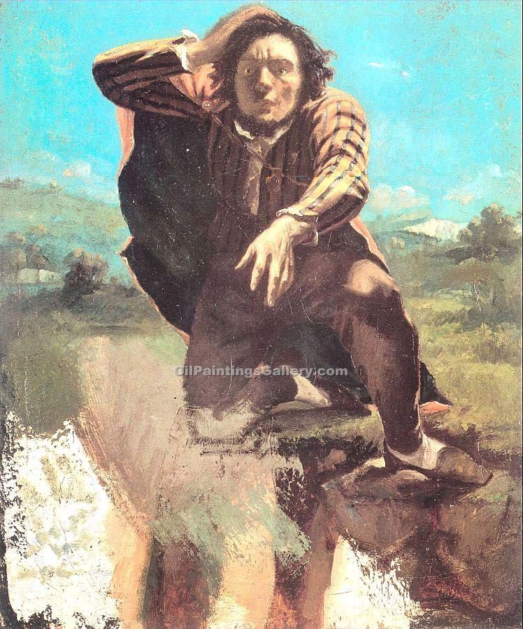 """The Desperate Man the Man Made by Fear"" by  Gustave Courbet"