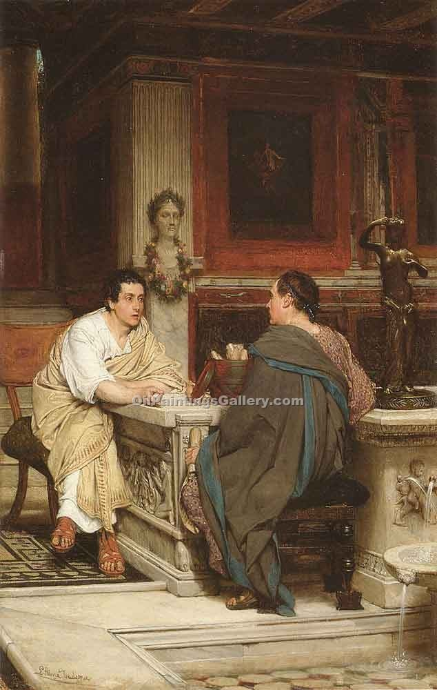 """The Discourse"" by  Sir Lawrence Alma Tadema"