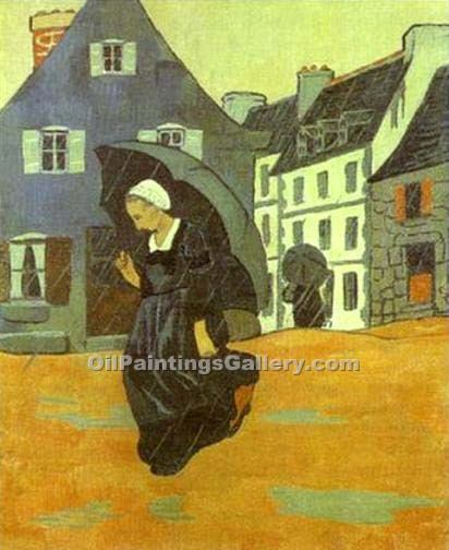"""The Downpour"" by  Paul Serusier"