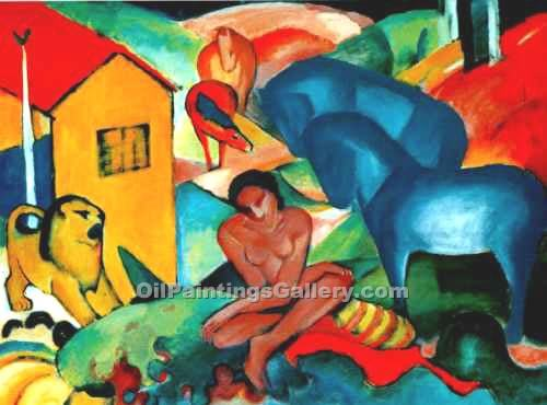 """The Dream 56"" by  Franz Marc"