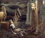 The Dream of Launcelot at the Chapel of the San Graal by  Edward Burne Jones (Painting ID: CL-7003-KA)