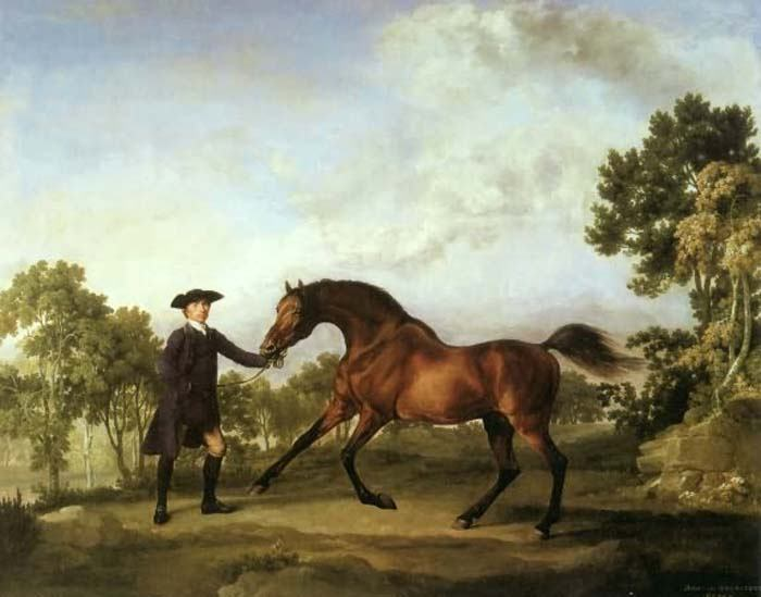 The Duke of Ancaster s Bay Stallion Blank by George Stubbs | Best Online Art Gallery - Oil Paintings Gallery