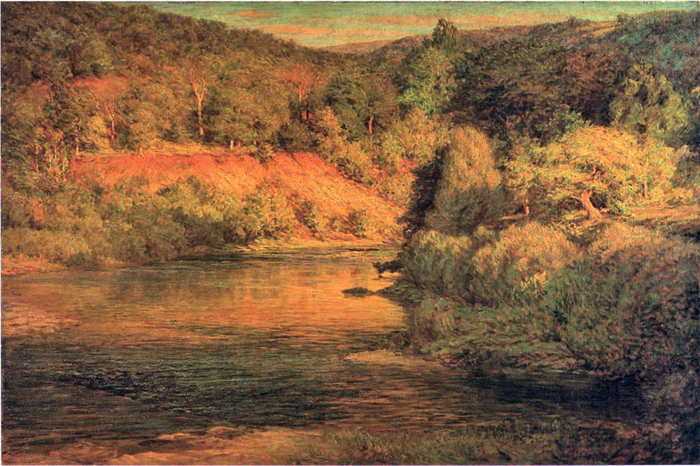 """The Ebb of Day"" by  John Ottis Adams"
