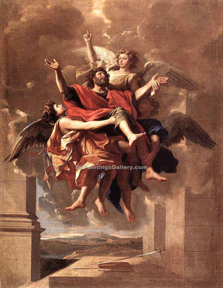 """The Ecstasy of St Paul"" by  Nicolas Poussin"