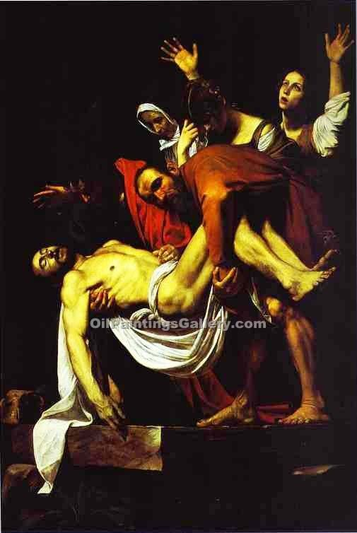 """The Entombment"" by    Caravaggio"