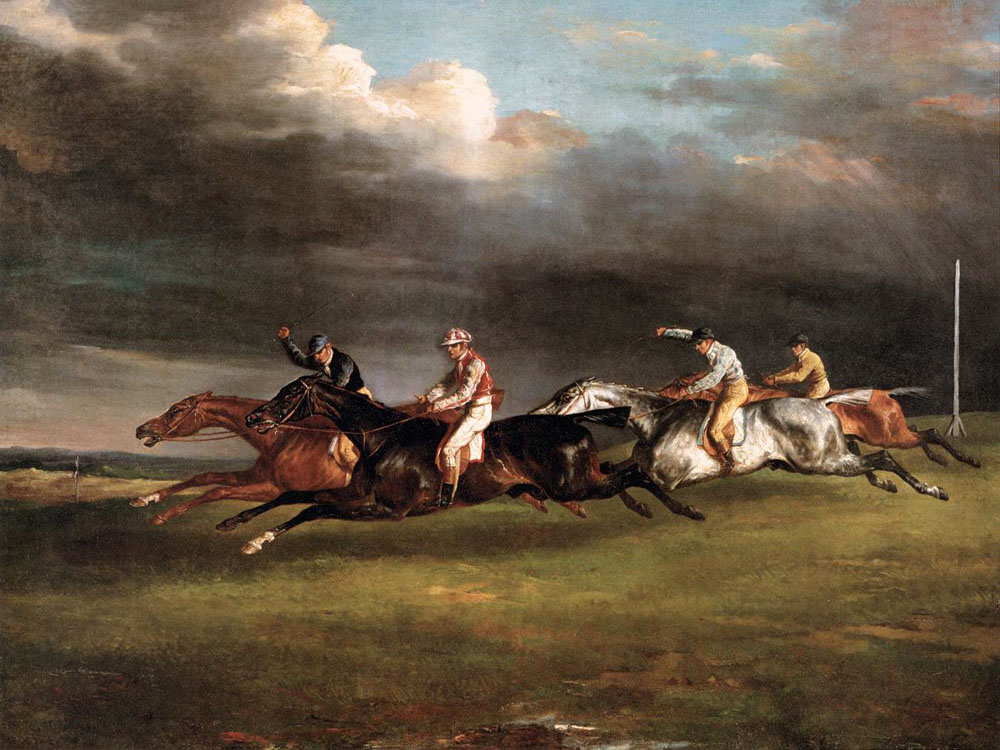 """The Epsom Derby"" by  Theodore Gericault"