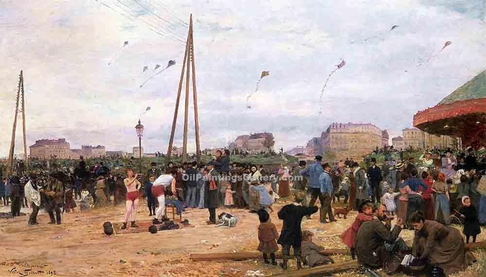 """The Fairgrounds at Porte de Clignancourt"" by  Victor Gabriel Gilbert"