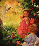 The Fairy of the Christmas Tree by  Sarah Stilwell Weber (Painting ID: ED-1182-KA)