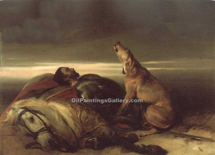 """The Faithful Hound"" by  Sir Edwin Henry Landseer"