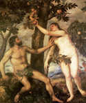 The Fall of Man by   Titian (Painting ID: DA-0048-KA)