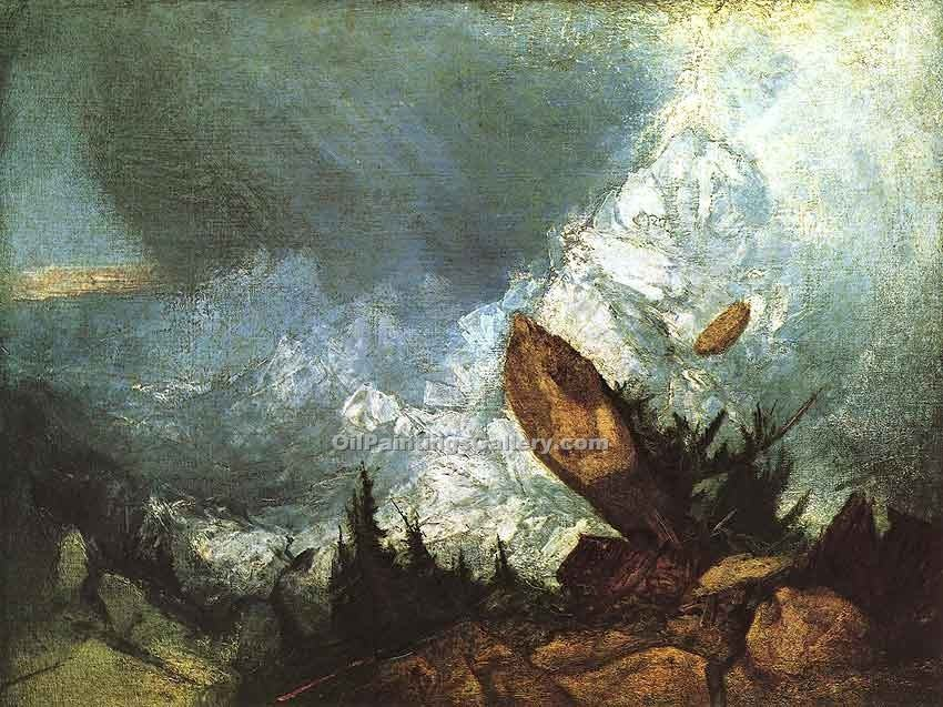 """The Fall of an Avalanche in the Grisons"" by  William Turner"