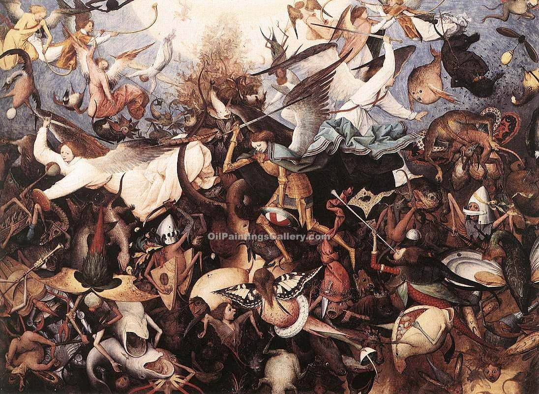 The Fall of the Rebels Angels by Pieter the Elder Brueghel | Art Paintings For Sale - Oil Paintings Gallery