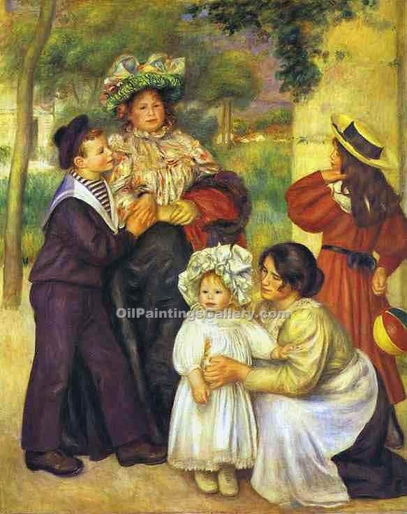 """The Family of the Artist"" by  Pierre Auguste Renoir"