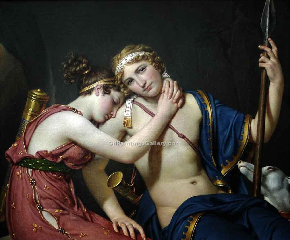 """The Farewell of Telemachus and Eucharis"" by  Jacques Louis David"