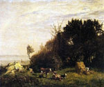 The Farm in Saint Simeon by  Eugene Louis Boudin (Painting ID: LA-2408-KA)