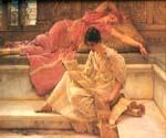 The Favourite Poet by  Sir Lawrence Alma Tadema (Painting ID: EI-1330-KA)