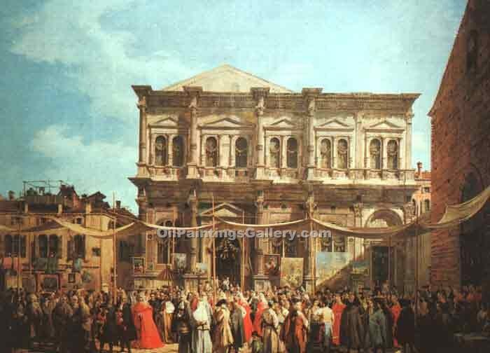 """The Feast Day of St Roch"" by  Antonio Canaletto"