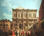 The Feast Day of St Roch by  Antonio Canaletto (Painting ID: CI-2035-KA)