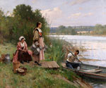 The Ferry by  Adrien Moreau (Painting ID: ED-0209-KA)