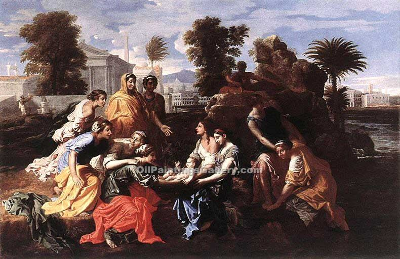 """The Finding of Moses 11"" by  Nicolas Poussin"