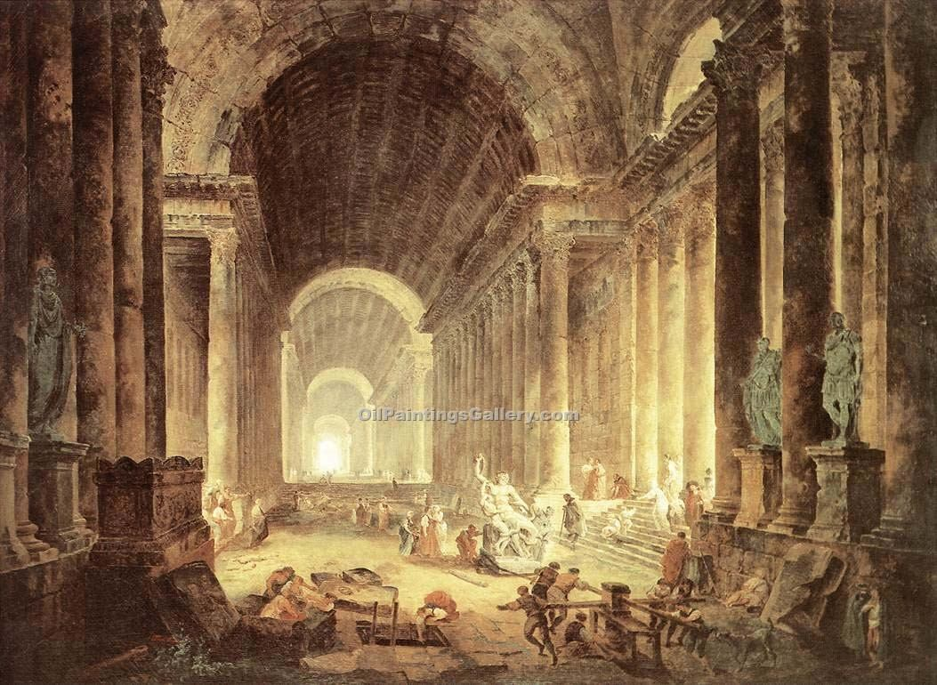 """The Finding of the Laokoon"" by  Hubert Robert"