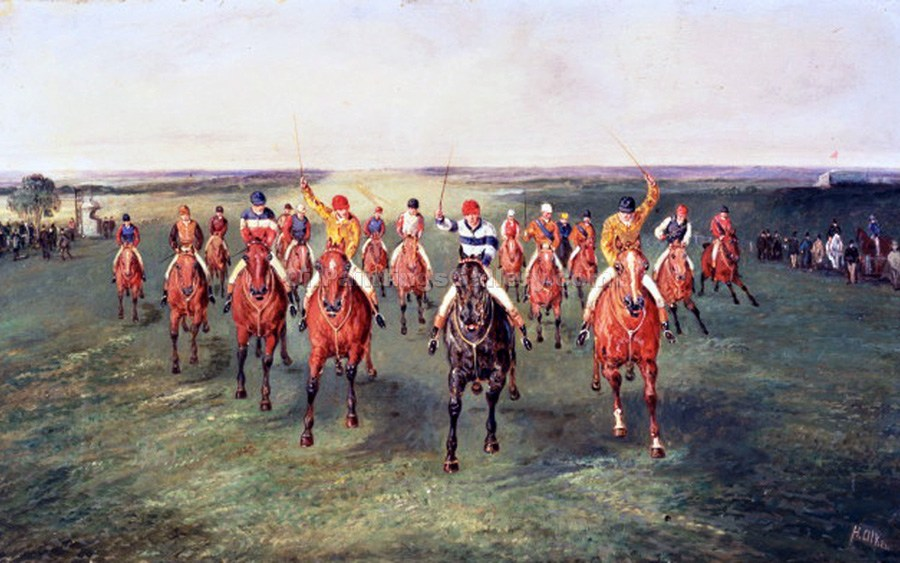 """The Finish of the Two Thousand Guineas at Newmarket"" by  Samuel Henry Alchen"