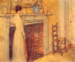 The Fireplace 60 by  Frederick Childe Hassam (Painting ID: EI-0760-KA)
