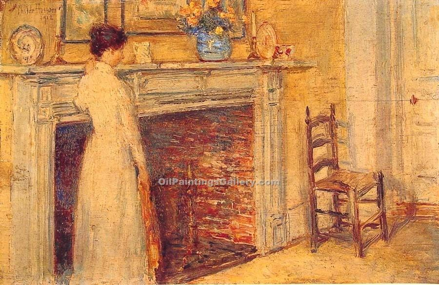 """The Fireplace 60"" by  Frederick Childe Hassam"
