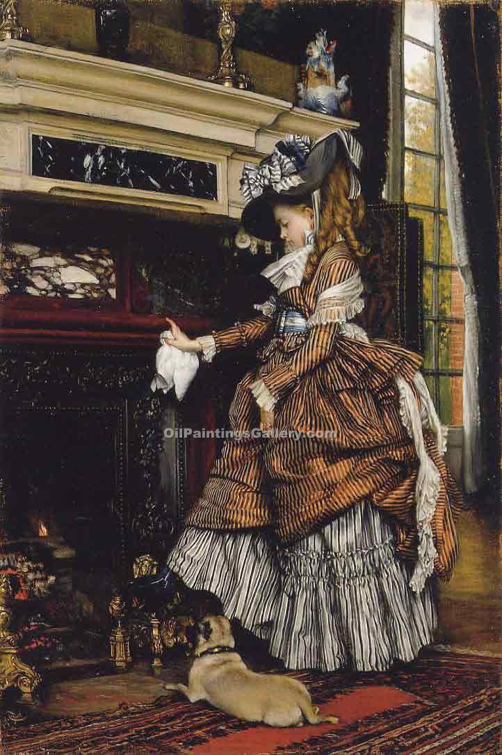 """The Fireplace 89"" by  James Tissot"