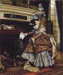 The Fireplace 89 by  James Tissot (Painting ID: CL-4289-KA)