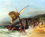 The Fishermens Departure by  Georges Washington (Painting ID: LA-0750-KA)