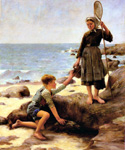 The Fisherwoman by  Jules Bastien Lepage (Painting ID: ED-0290-KA)