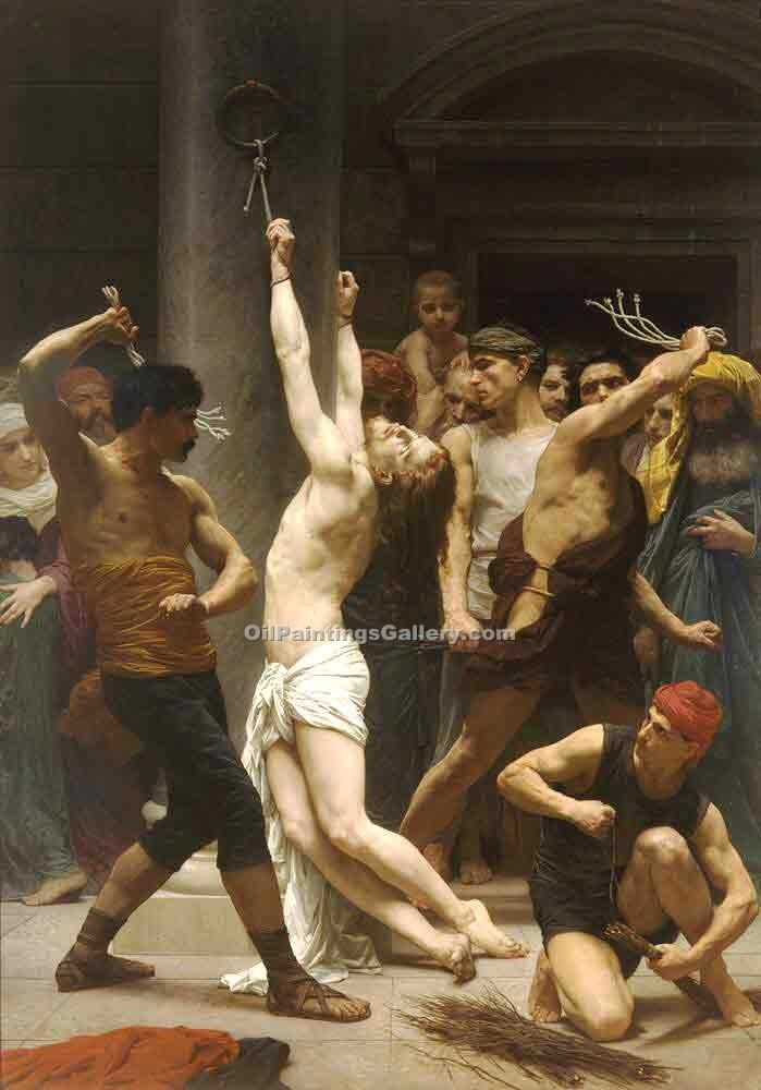 """The Flagellation of Our Lord Jesus Christ"" by  Adolphe Bouguereau"