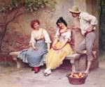 The Flirtation 26 by  Eugene de Blaas (Painting ID: EI-0526-KA)