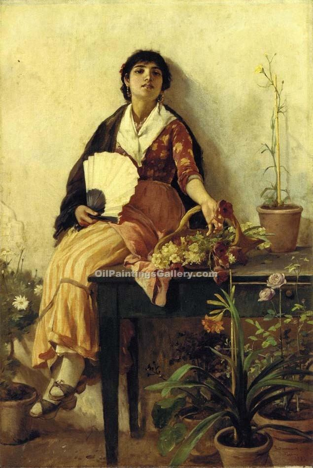 """The Florentine Girl"" by  Frank Duveneck"