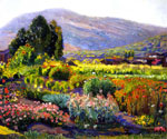 The Flower Garden in Laguna by  Joseph Kleitsch (Painting ID: LA-2764-KA)