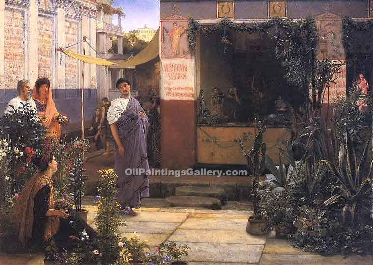 """The Flower Market"" by  Sir Lawrence Alma Tadema"