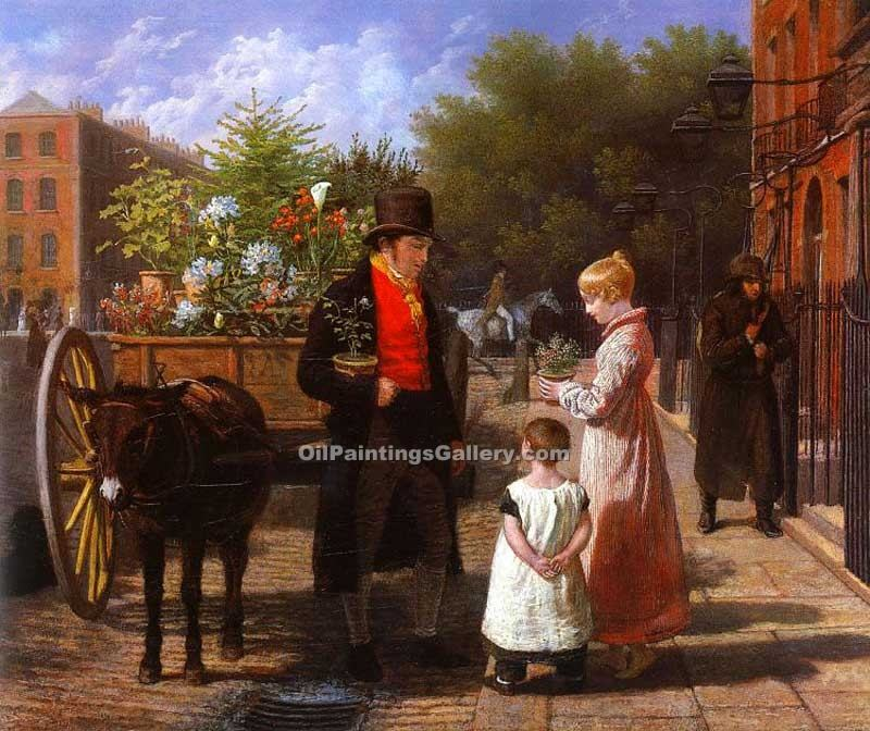 """The Flower Seller 45"" by  Jacques Laurent Agasse"
