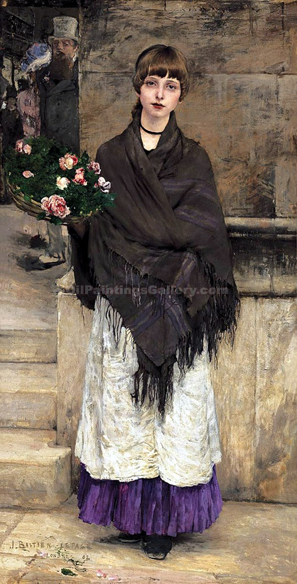 """The Flower Seller 92"" by  Jules Bastien Lepage"