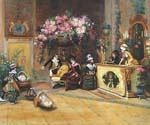 The Flower Shop Oil Painting (ID: CM-2062-D)