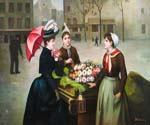 The Flower Vender Oil Painting (ID: CL-4960-B)