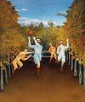 The Football Players by  Henri Rousseau (Painting ID: RO-0132-KA)