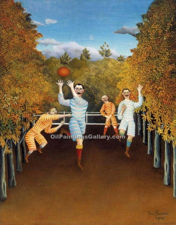 """The Football Players"" by  Henri Rousseau"