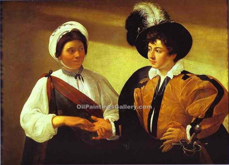 """The Fortune Teller 24"" by    Caravaggio"