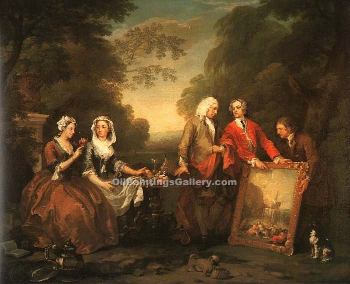 The Fountaine Family by WilliamHogarth | Painting Artists - Oil Paintings Gallery