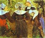 The Four Breton Girls 62 by  Paul Gauguin (Painting ID: GA-0262-KA)
