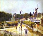 The Fourteenth of July at Marly-le-Roi by  Alfred Sisley (Painting ID: LA-0325-KA)
