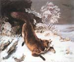 The Fox in the Snow by  Gustave Courbet (Painting ID: AN-2224-KA)